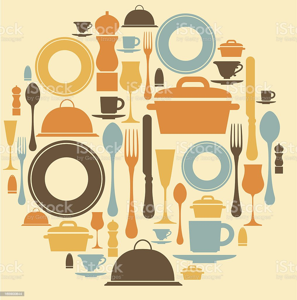 Dining Icon Set vector art illustration