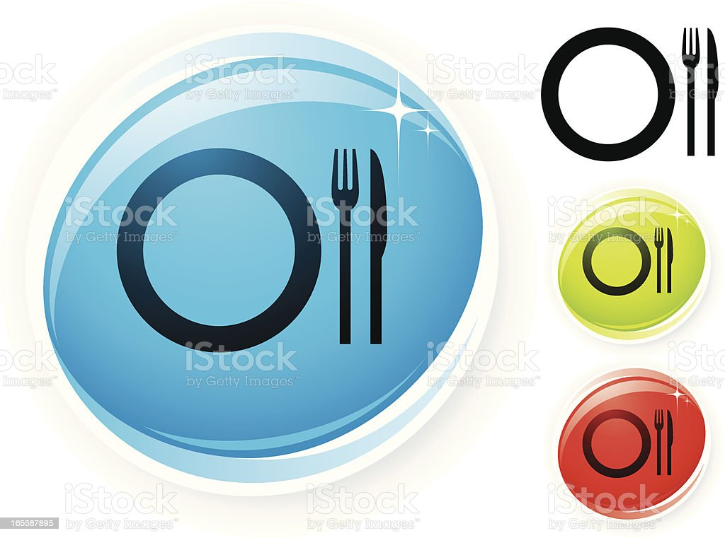 Dining icon royalty-free stock vector art