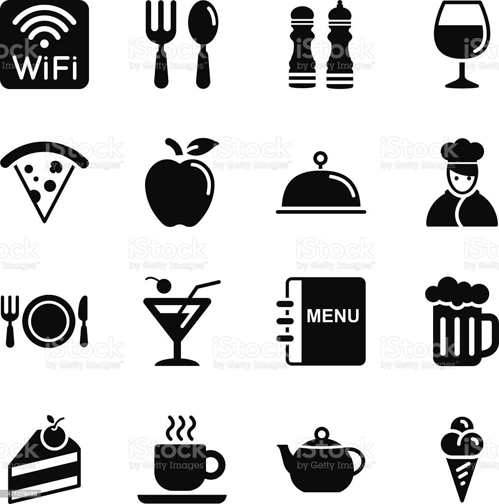 Dining Icons vector art illustration