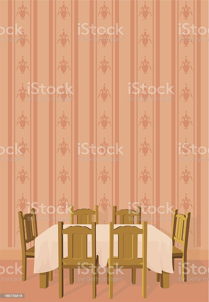 Dining Room With Copy Space vector art illustration