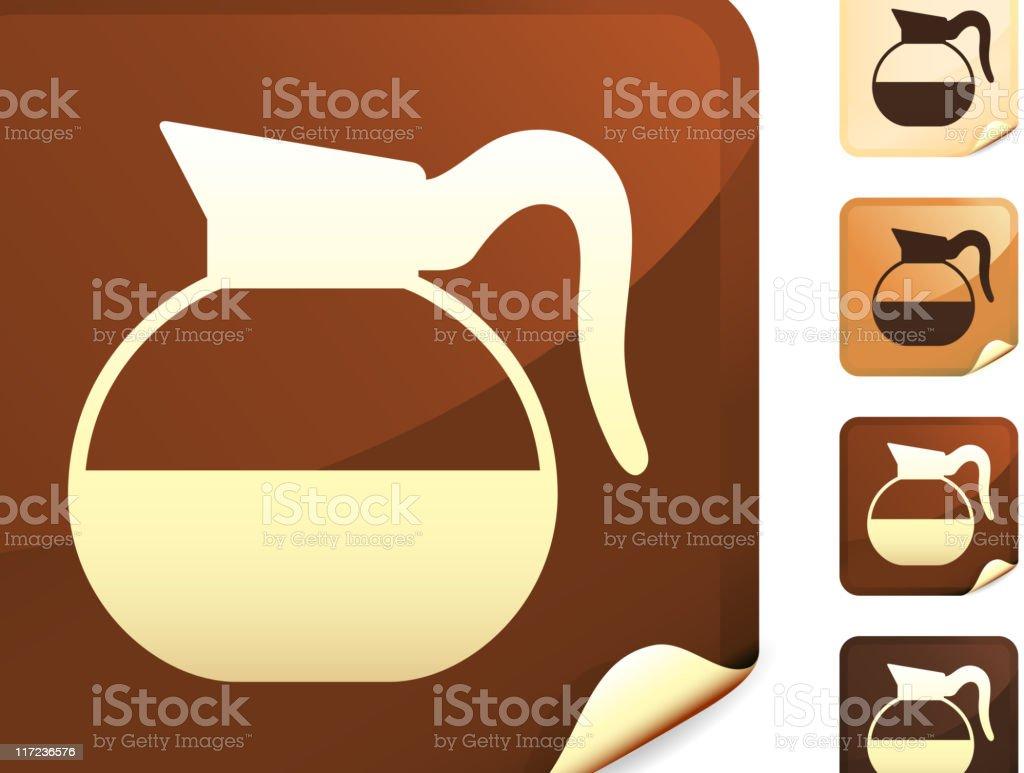 Dinner coffee pot internet royalty free vector art vector art illustration