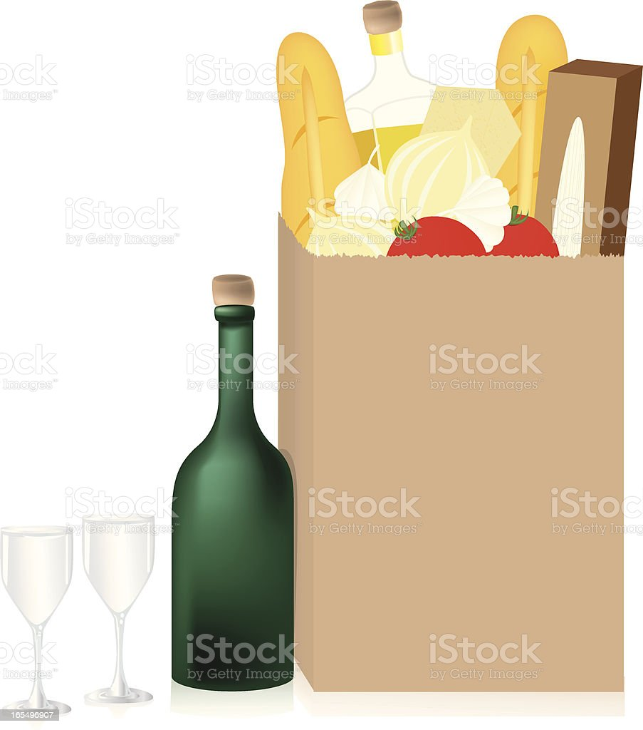 Dinner Groceries royalty-free stock vector art