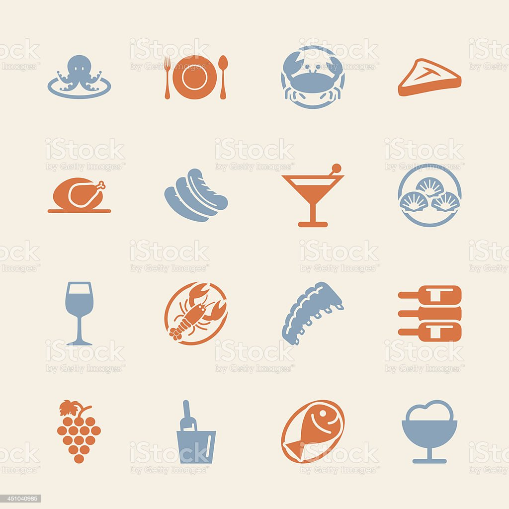 Dinner Icons - Color Series | EPS10 vector art illustration
