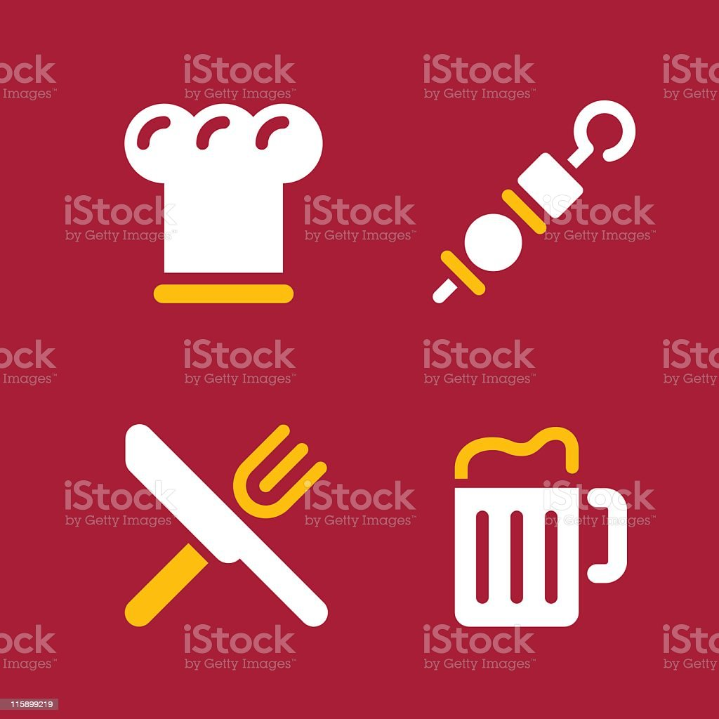 Dinner icons royalty-free stock vector art
