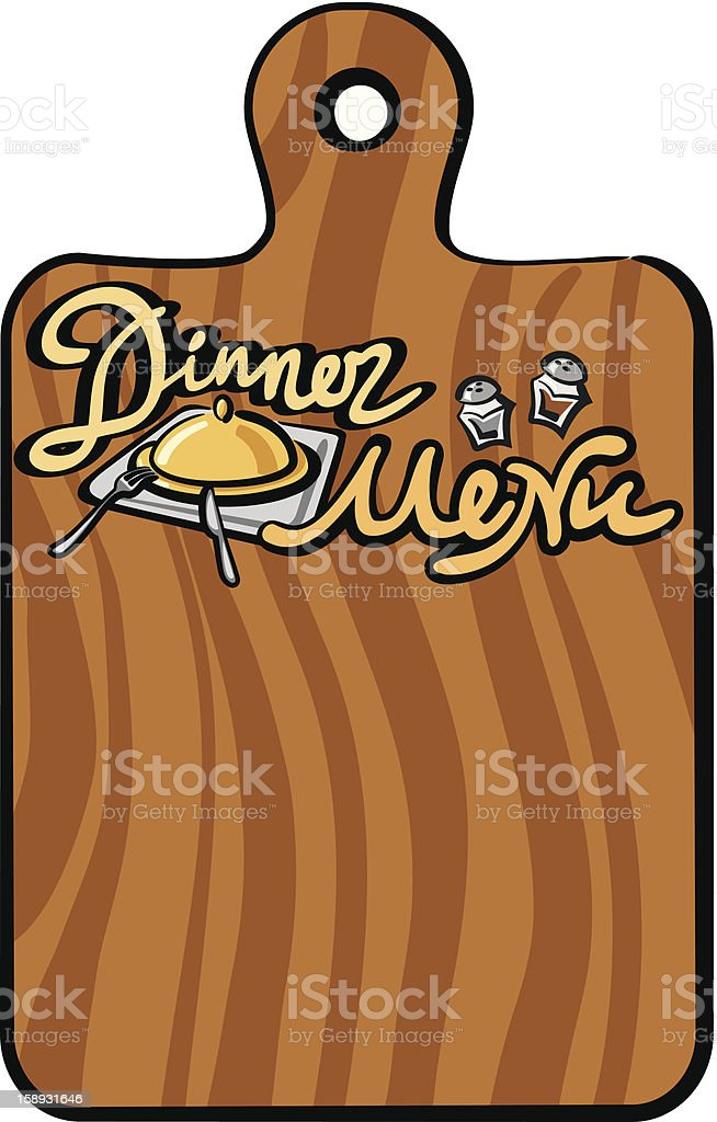 dinner menu royalty-free stock vector art