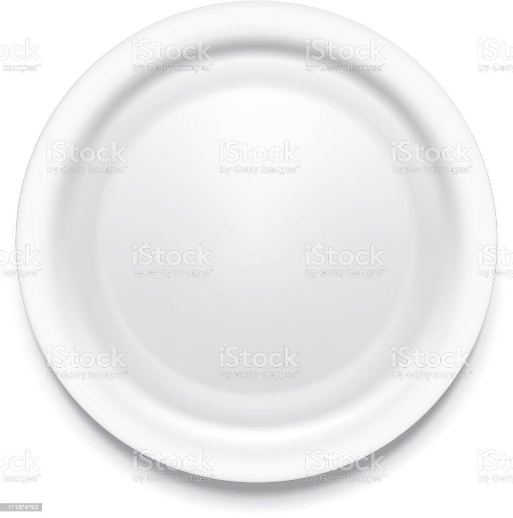 dinner plate royalty-free stock vector art