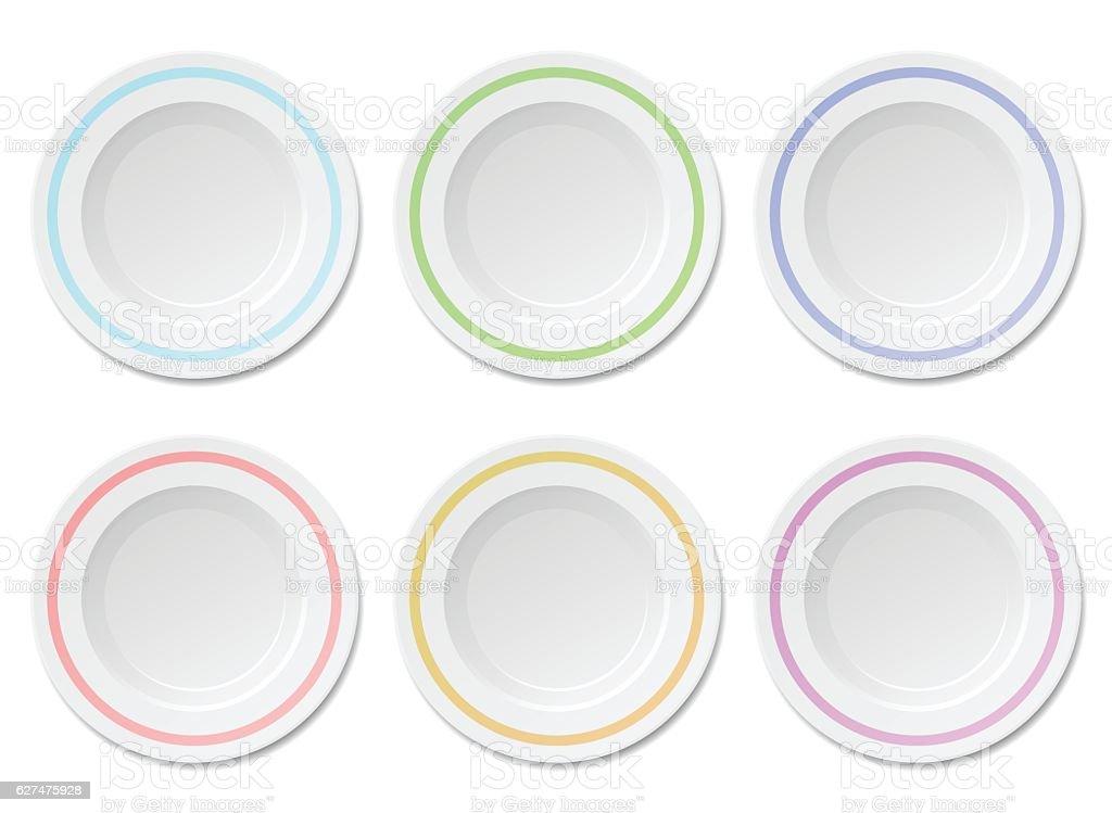 Dinner Plate vector art illustration