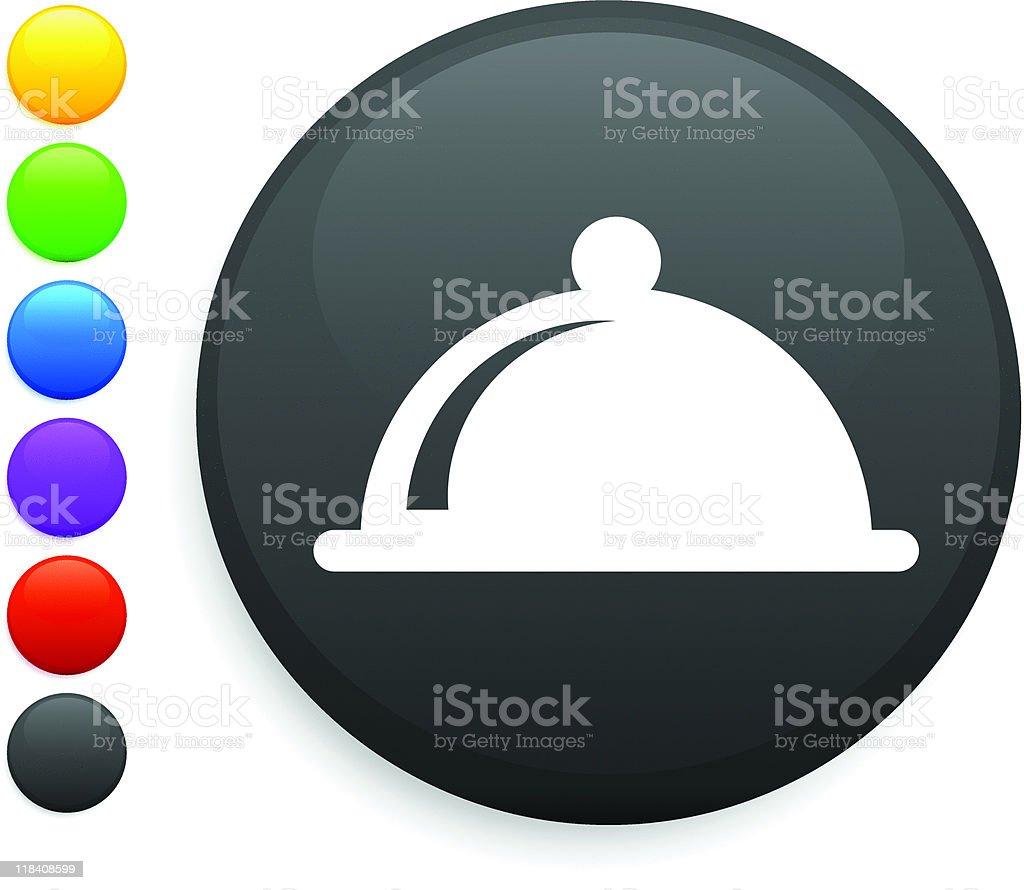 dinner platter internet button royalty-free stock vector art