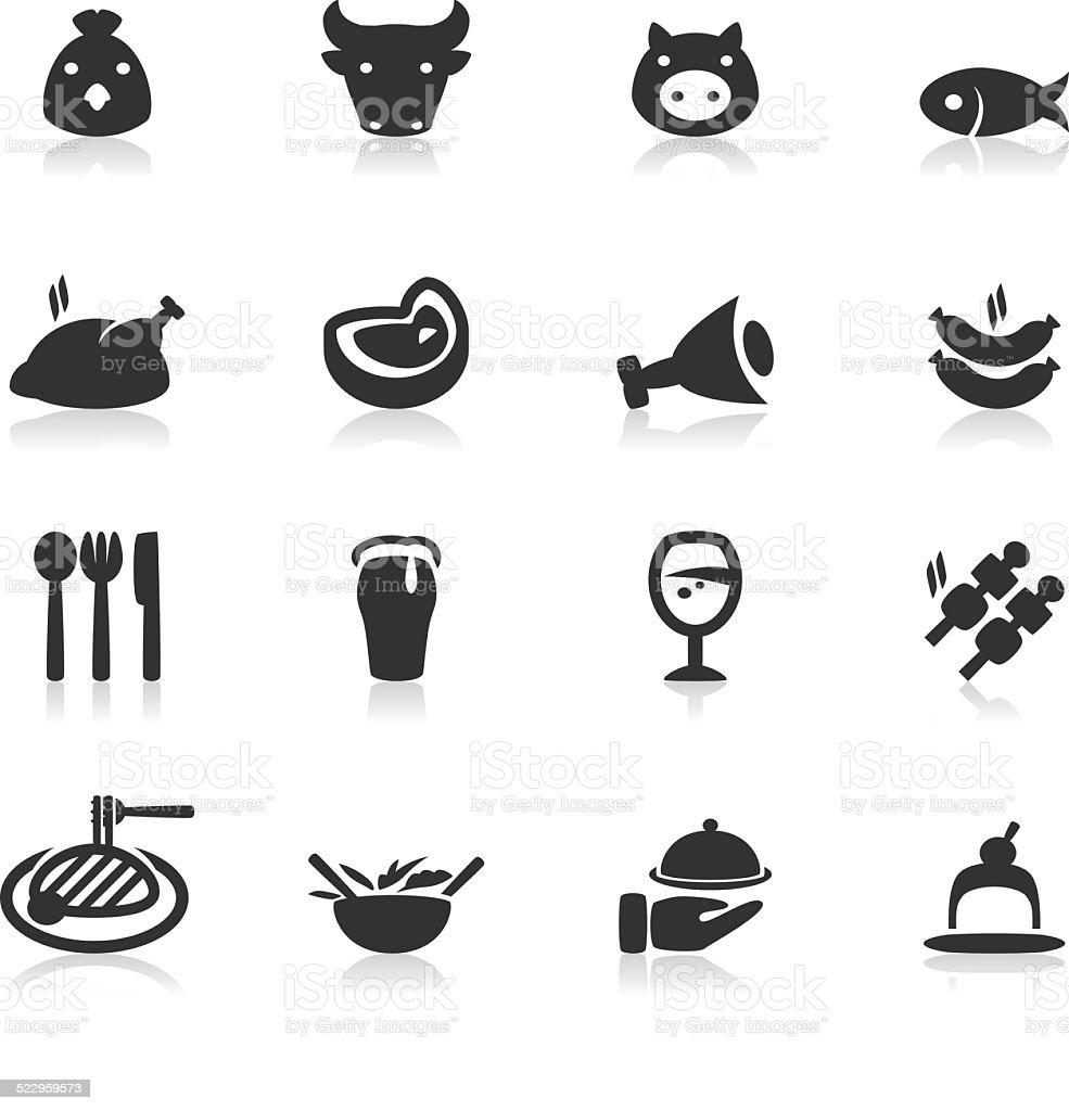 Dinner vector art illustration