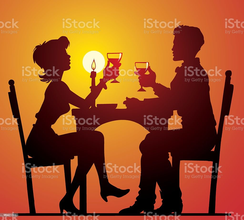 Dinner royalty-free stock vector art