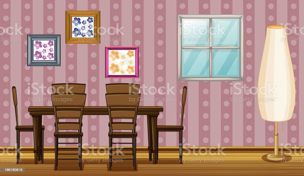 Dinning table royalty-free stock vector art
