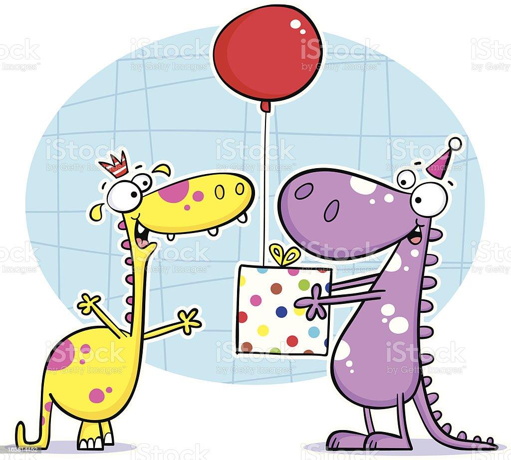 Dino Birthdayz royalty-free stock vector art