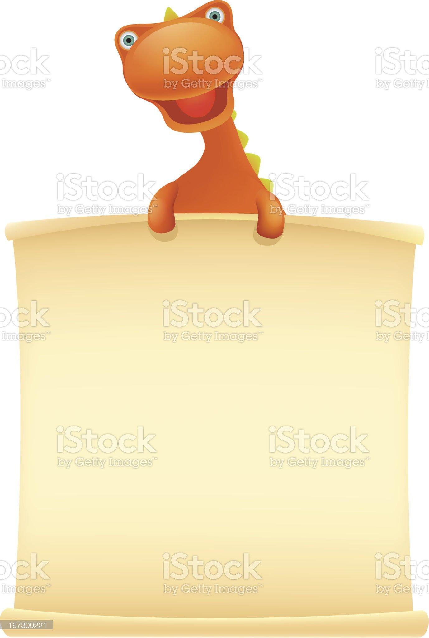 Dino Message royalty-free stock vector art
