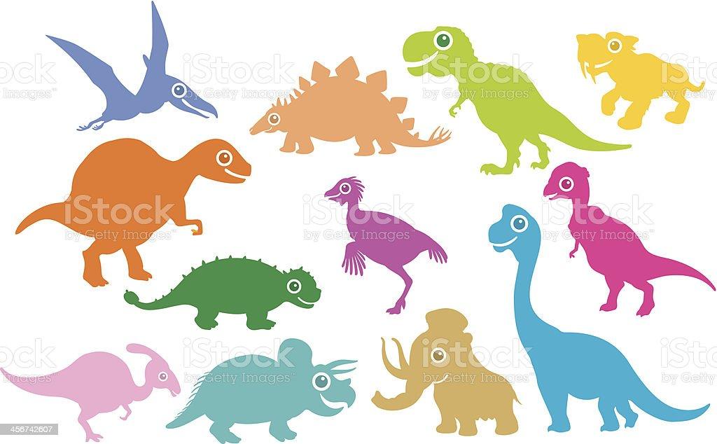 Dinosaur and Prehistoric Animals vector art illustration