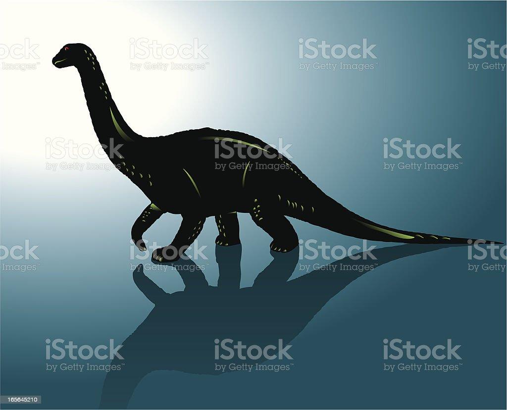 Dinosaur - Apatosaurus royalty-free stock vector art
