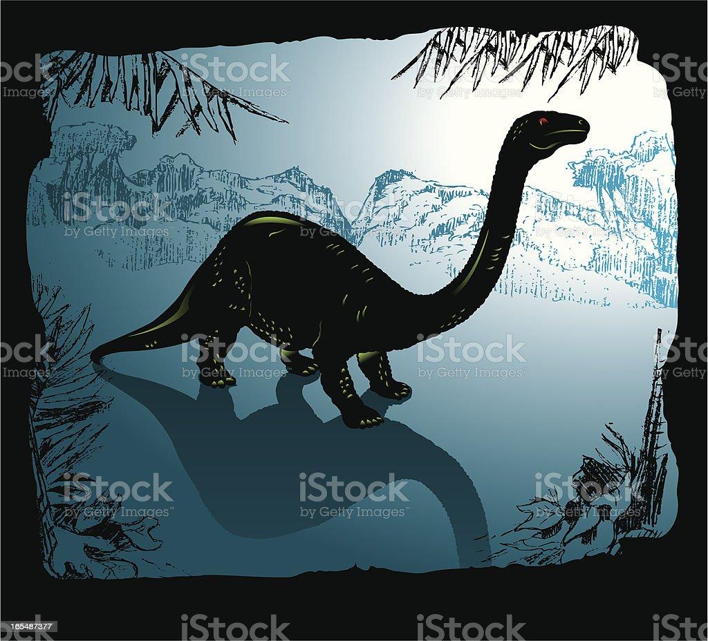 Dinosaur Brachiosaurus royalty-free stock vector art