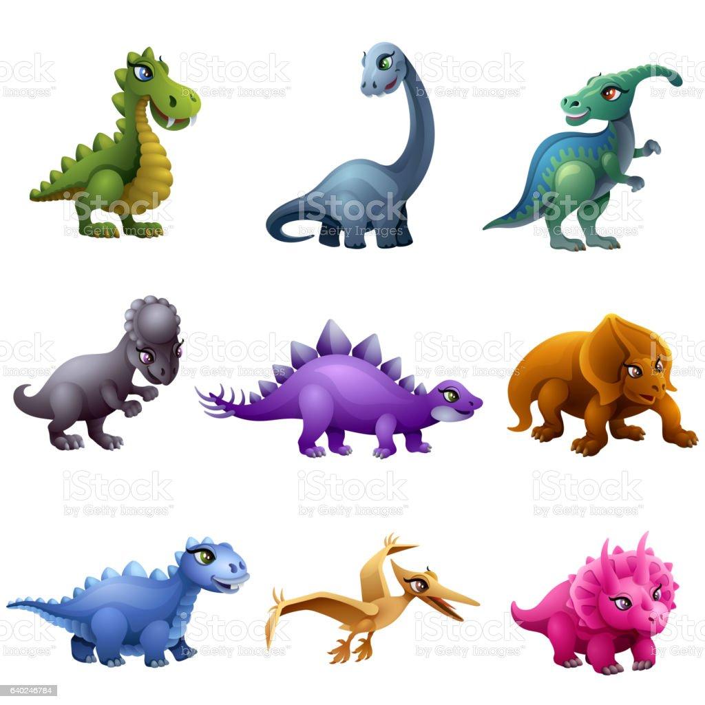 Dinosaur Characters vector art illustration
