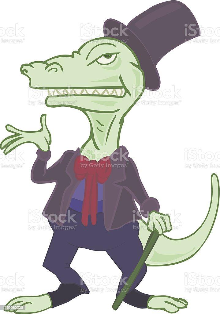 Dinosaur Dandy vector art illustration