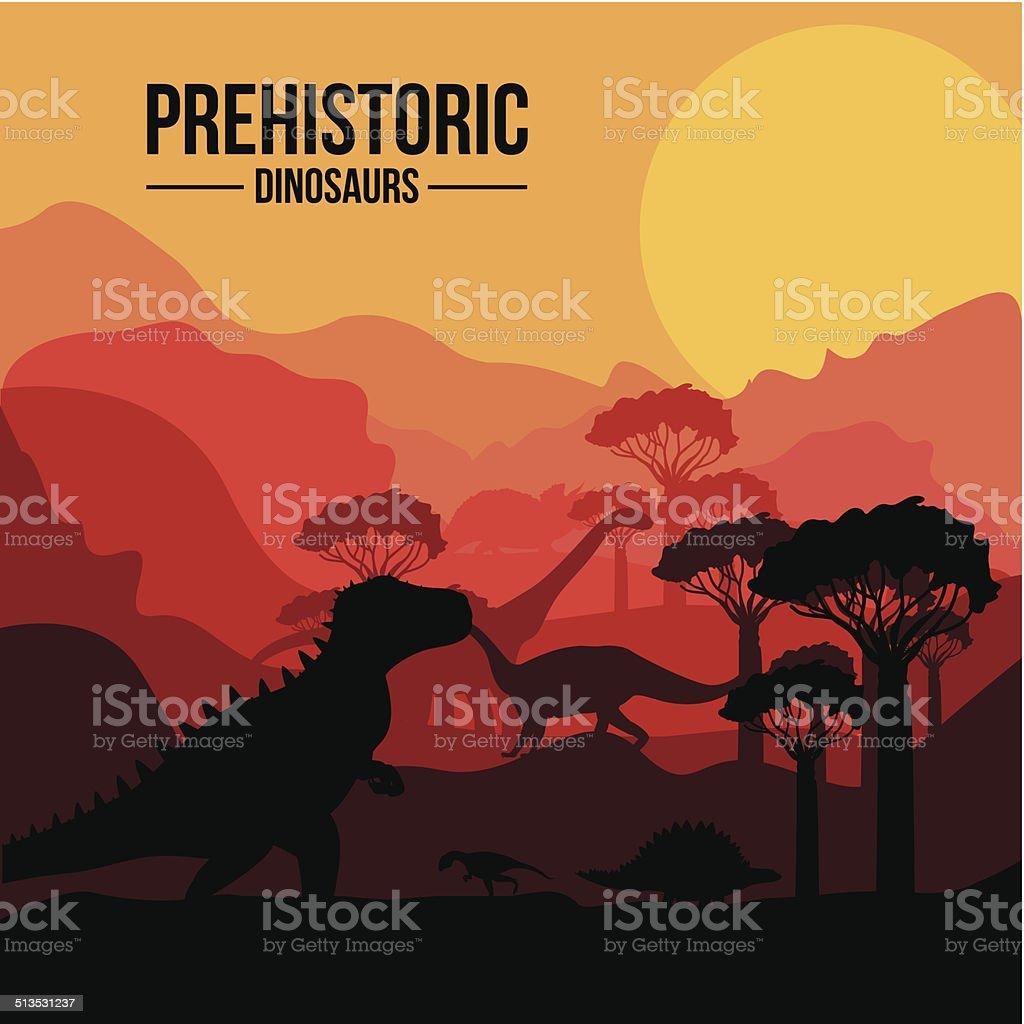 Dinosaur design vector art illustration