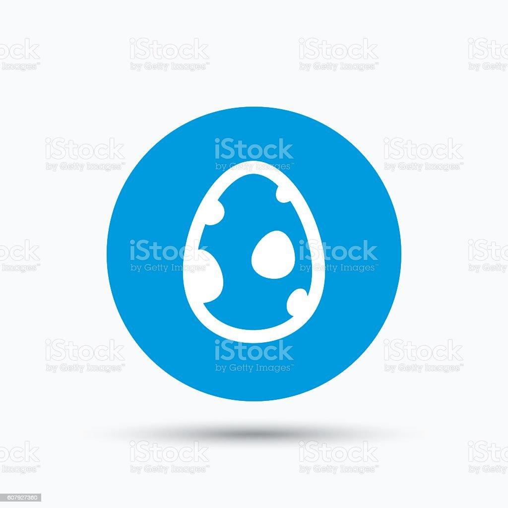 Dinosaur egg icon. Birth symbol sign. vector art illustration