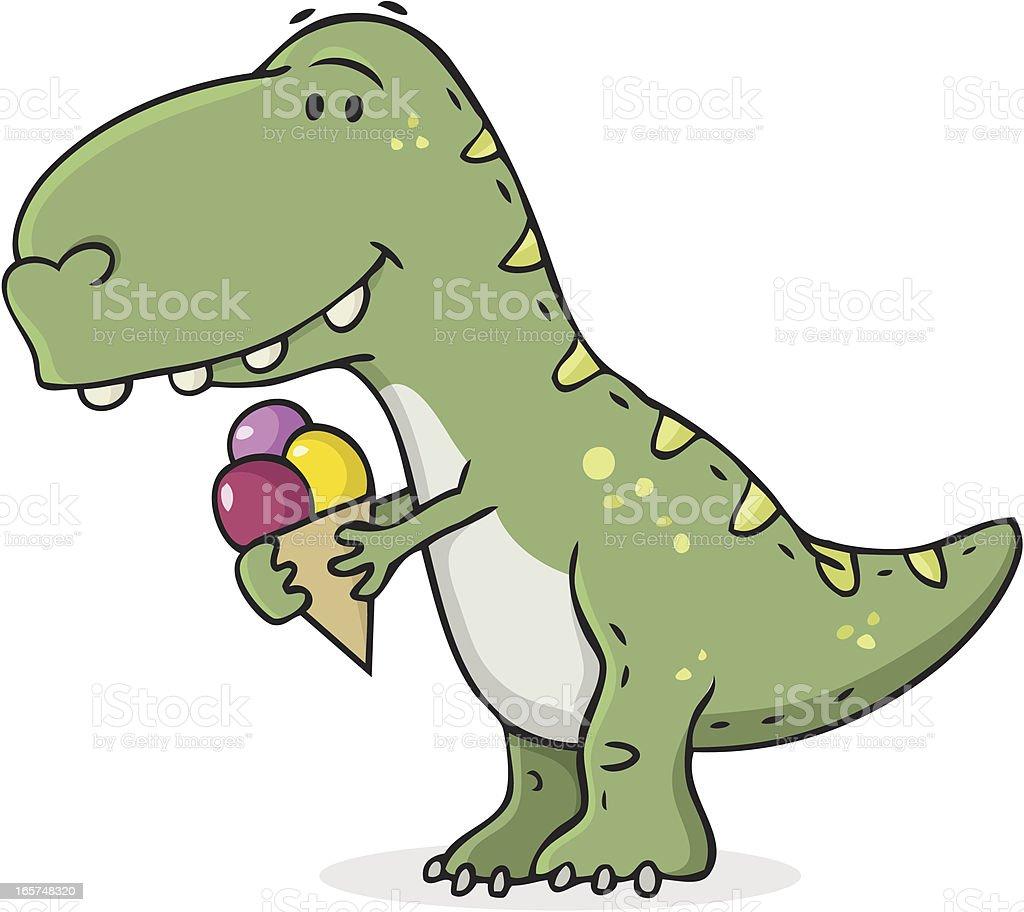 dinosaur in the ice age / icecream cartoon royalty-free stock vector art