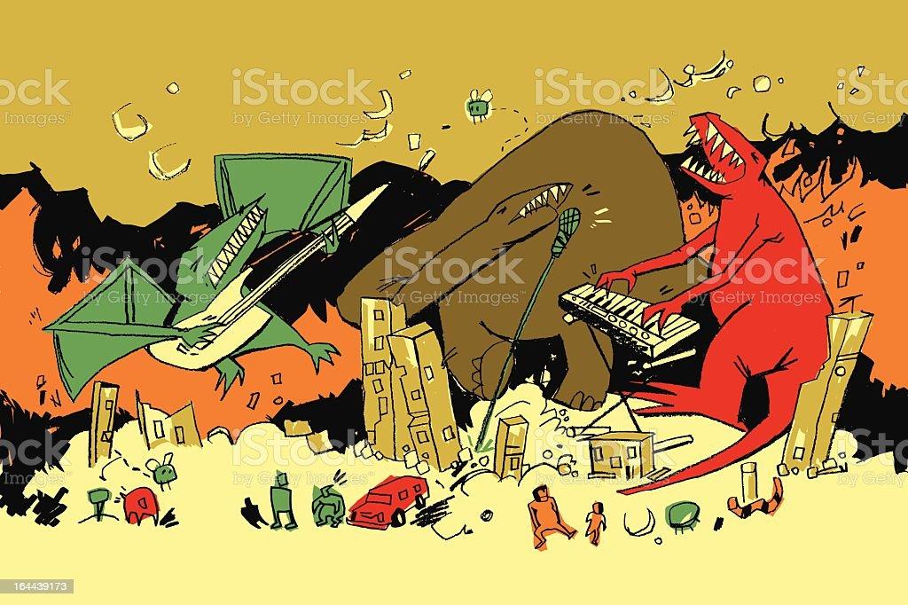 Dinosaur Party vector art illustration