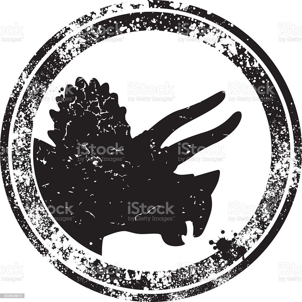 Dinosaur Rigging vector art illustration