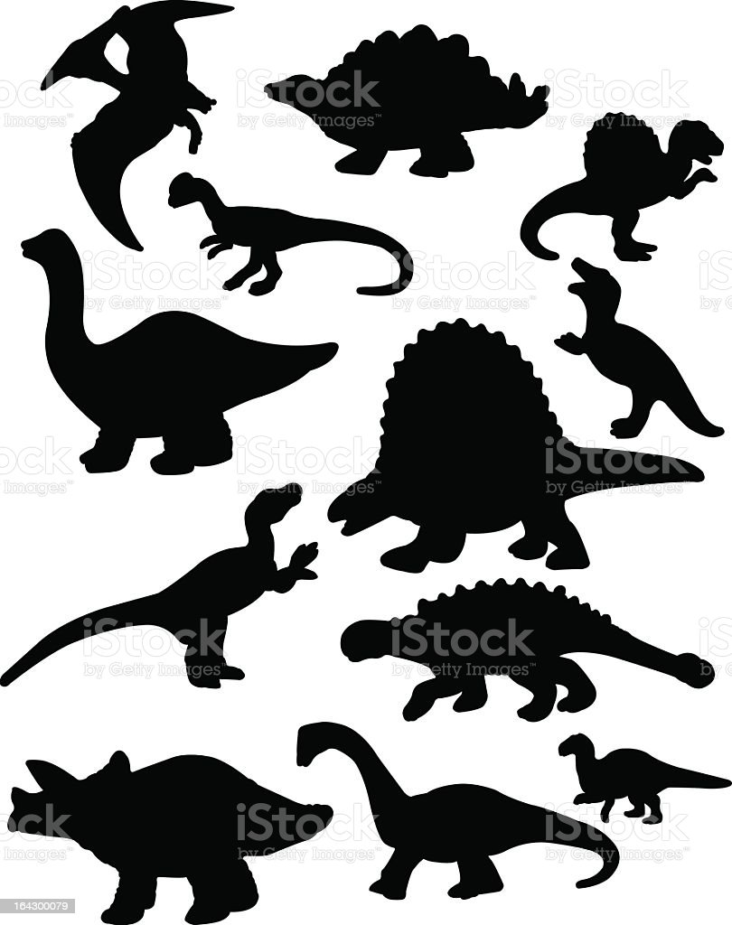 Dinosaur Silhouettes royalty-free stock vector art