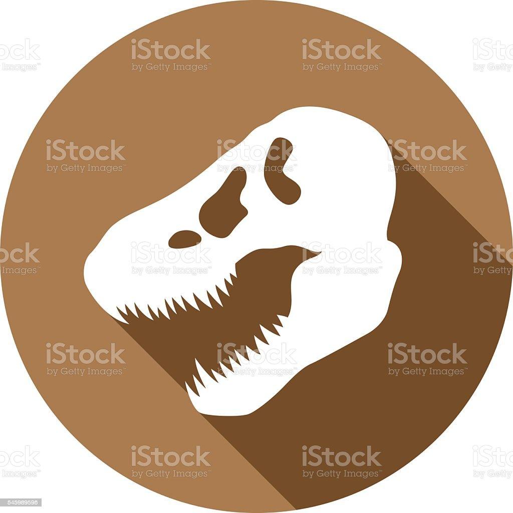 Dinosaur Skull Icon Silhouette vector art illustration