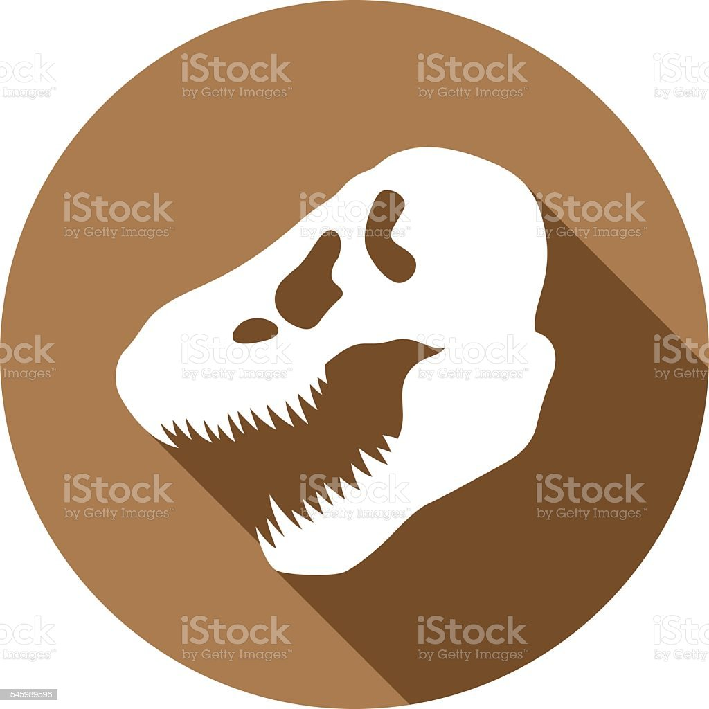 Dinosaur Skull Icon Silhouette vector art illustration