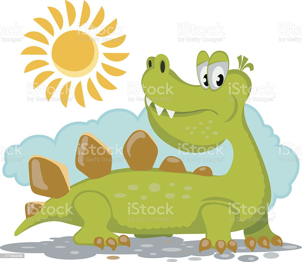 Dinosaur royalty-free stock vector art