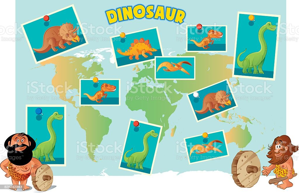Dinosaur World vector art illustration