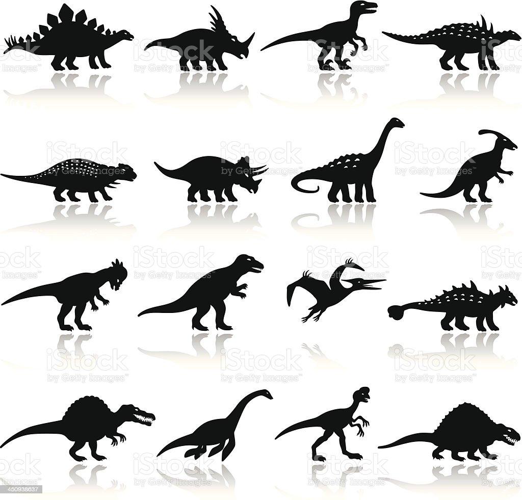 Dinosaurs Icon Set royalty-free stock vector art