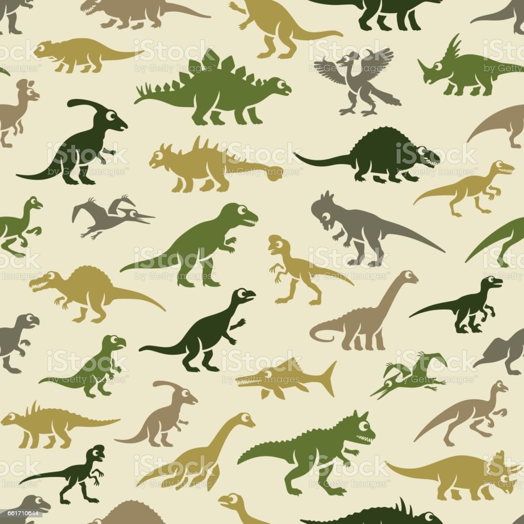 Dinosaurs Pattern vector art illustration