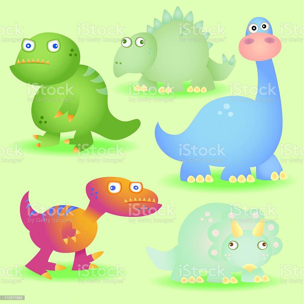 Dinosaurs! vector art illustration