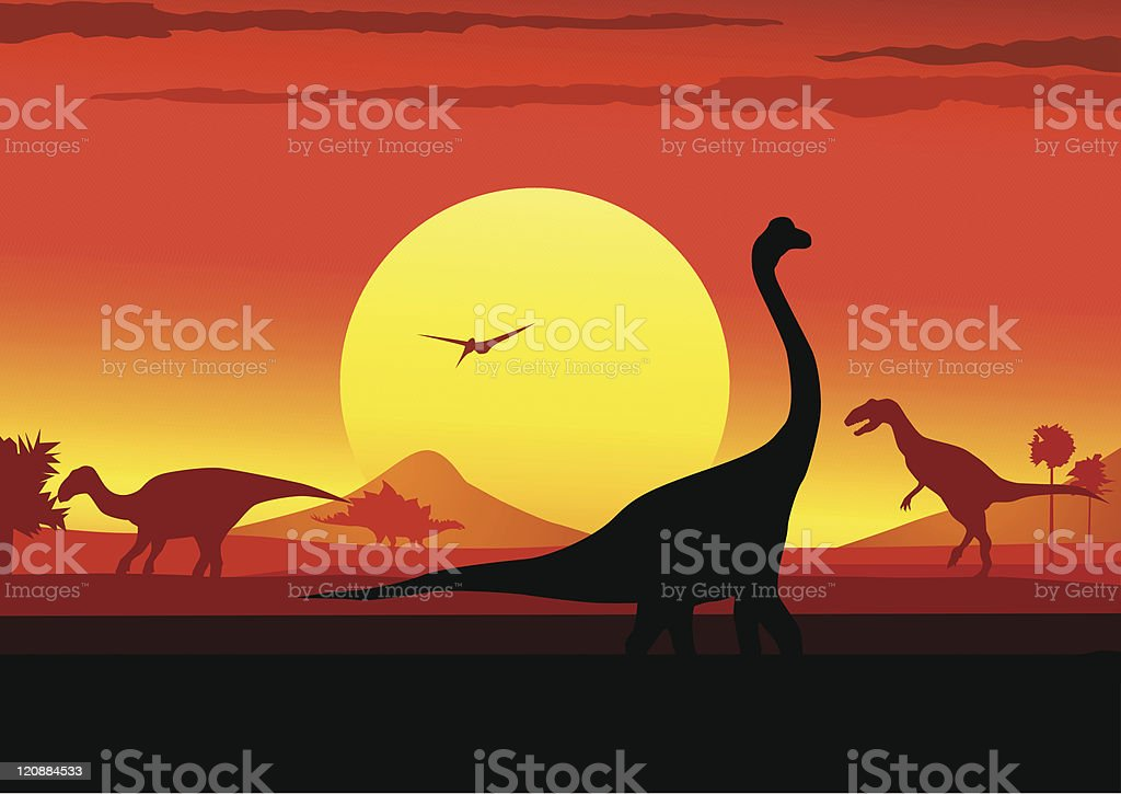 Dinosaurs vector art illustration