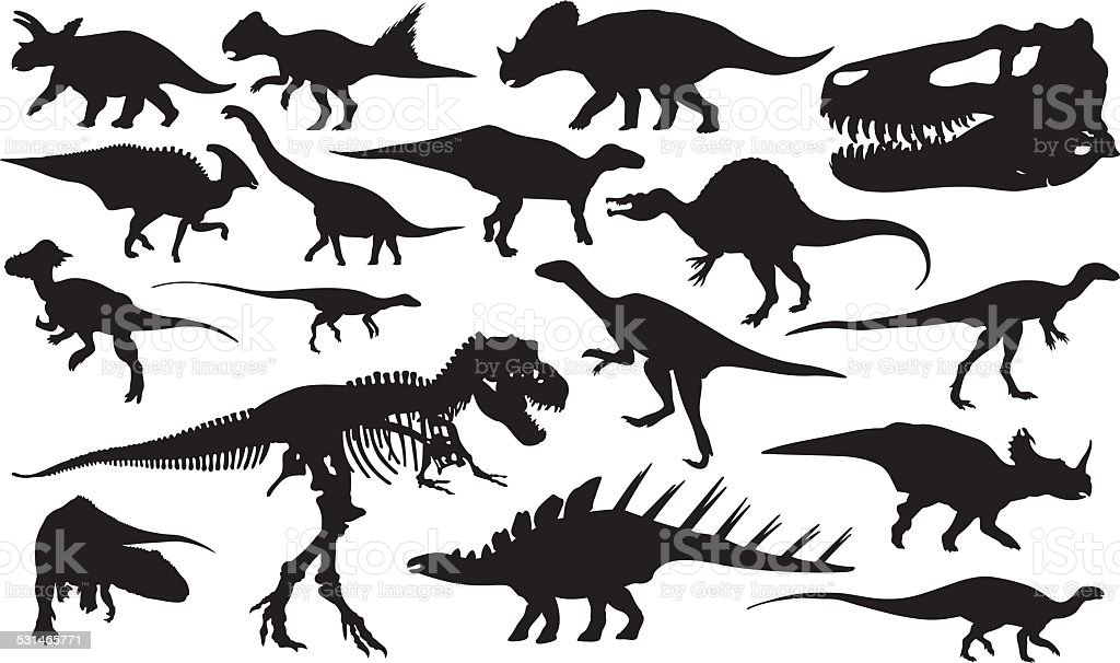 dinosaurs vector art illustration