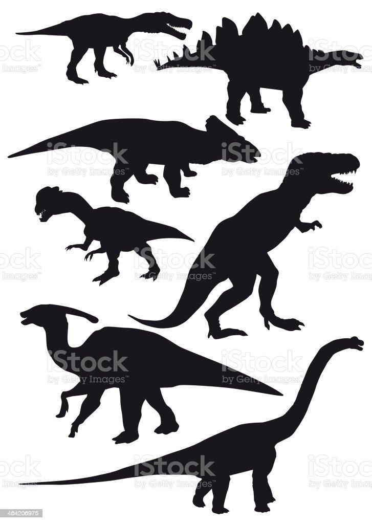 dinosaurs vector set vector art illustration