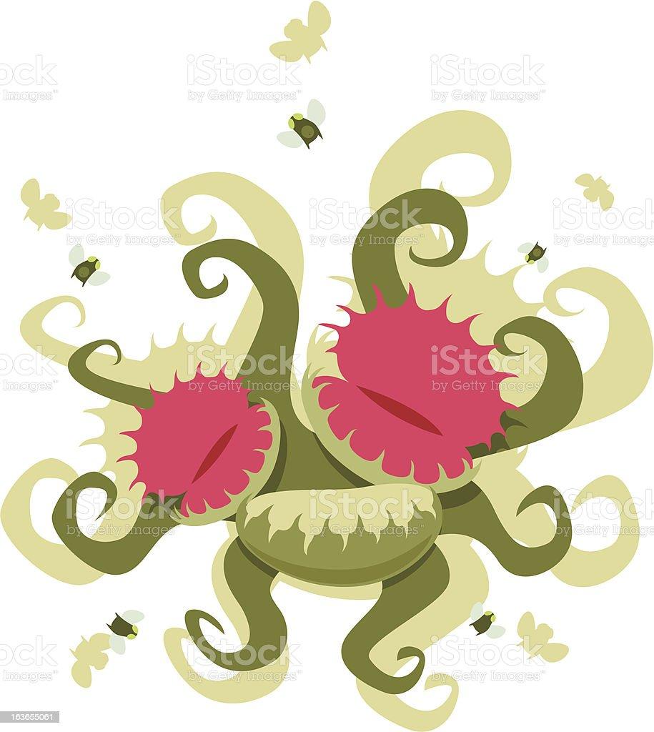 Dionaea muscipula royalty-free stock vector art