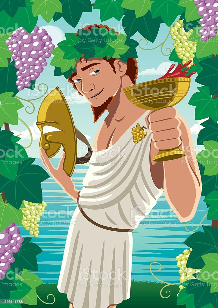Dionysus vector art illustration