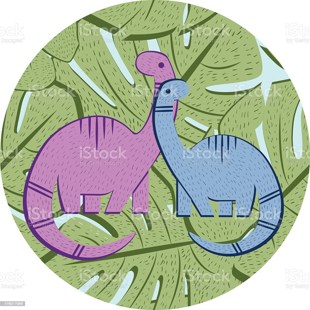 Diplodocus vector art illustration