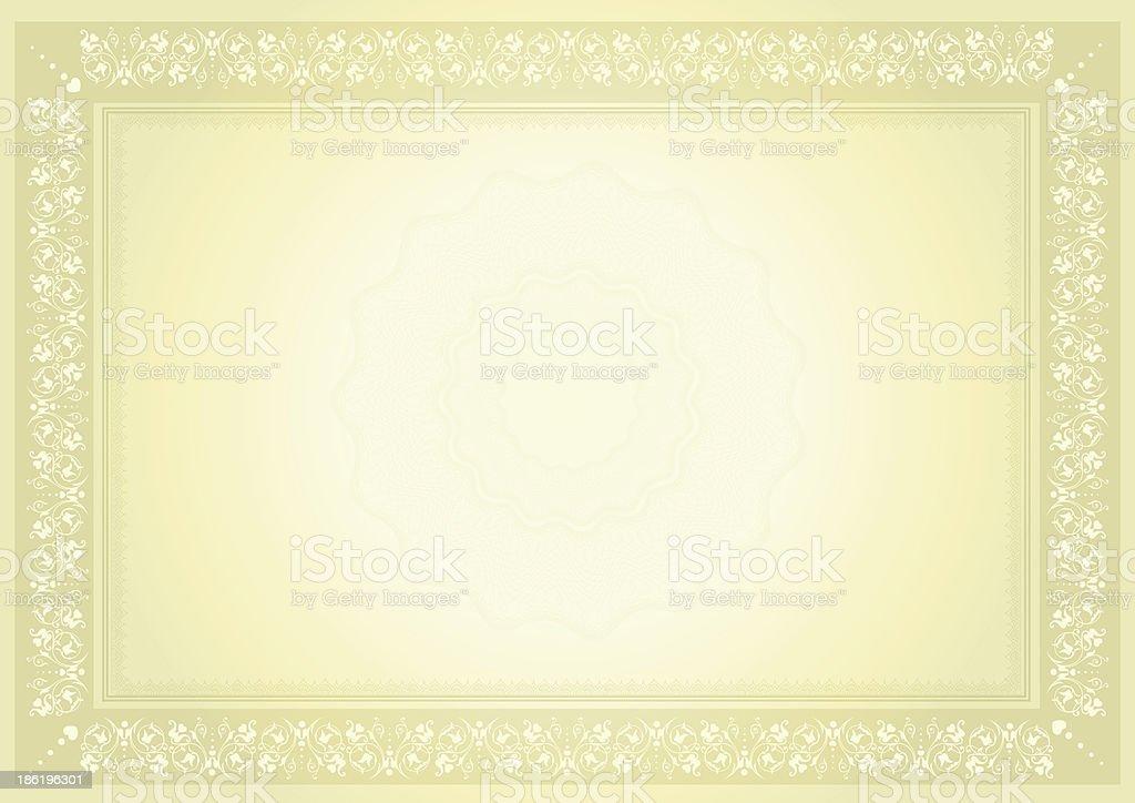 diploma certificate vector art illustration