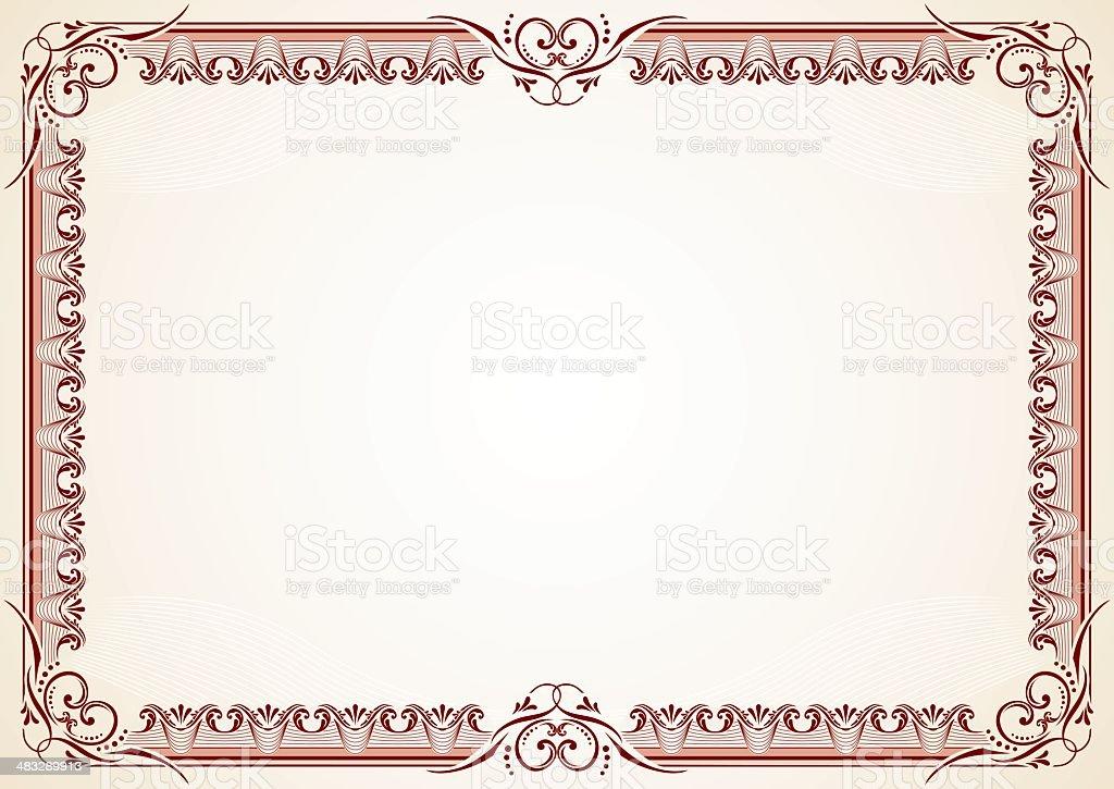 Diploma - Certificate royalty-free stock vector art
