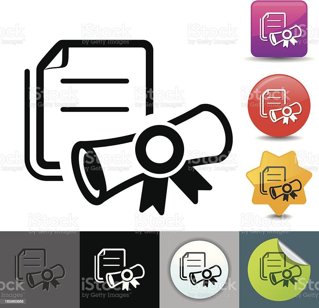 Diploma icon   solicosi series royalty-free stock vector art