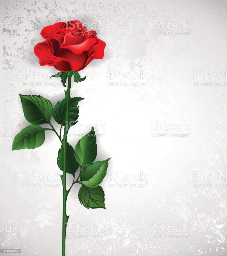Direct red rose vector art illustration