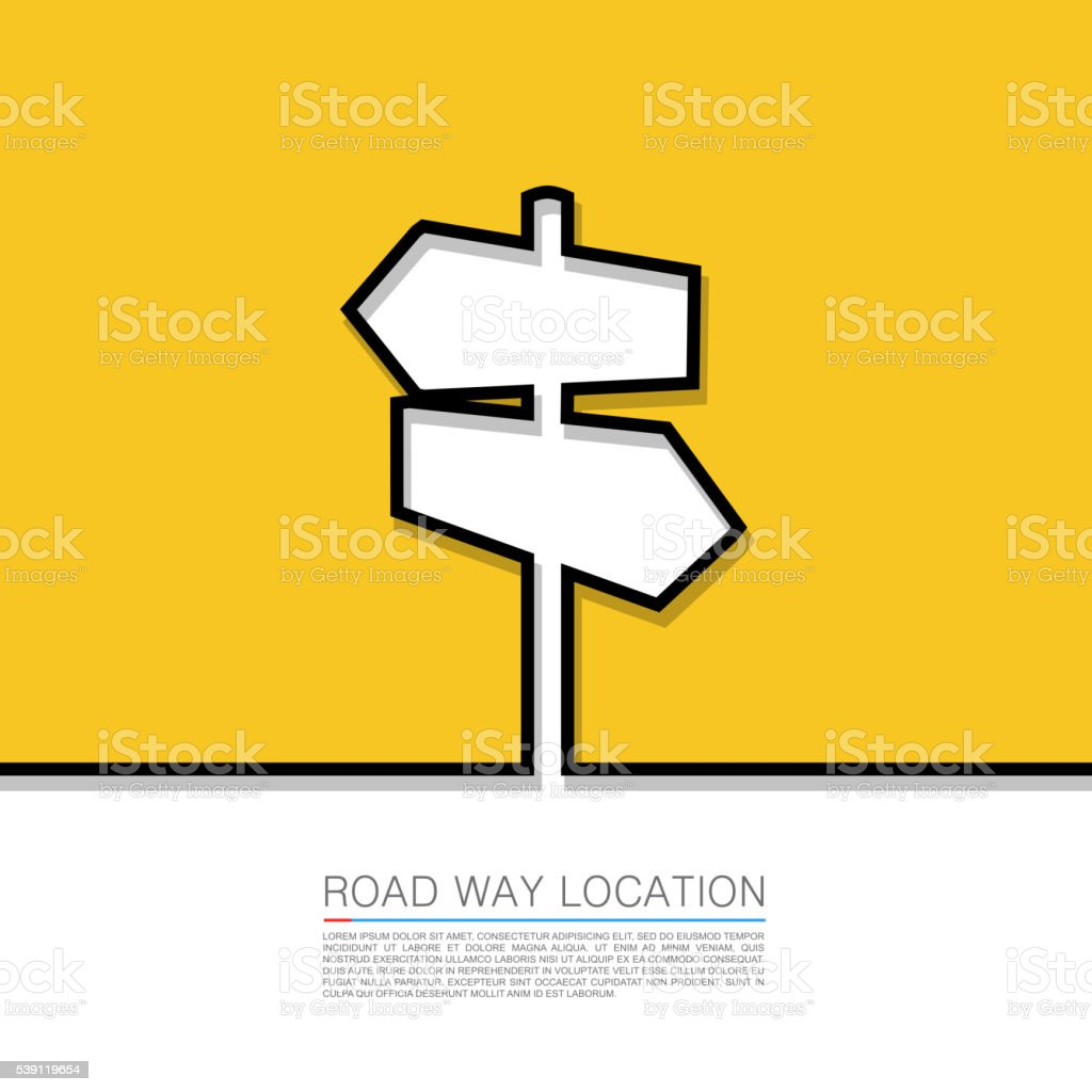 Direction arrow sign, Vector abstract background with . vector art illustration