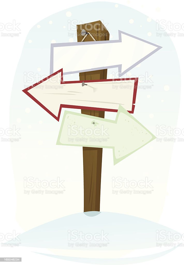 direction post royalty-free stock vector art