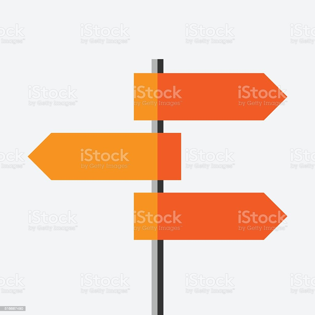 Direction route sign vector art illustration