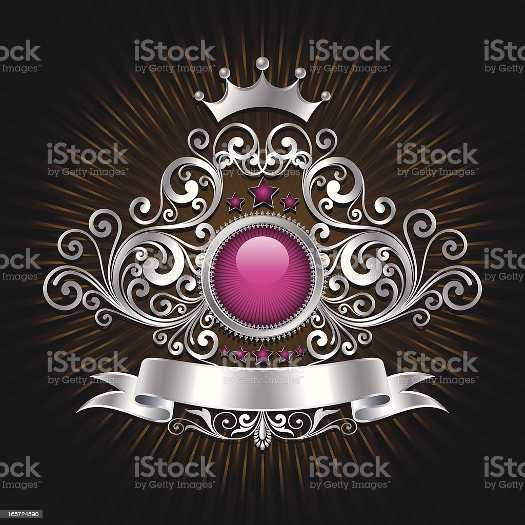 Direction Shield royalty-free stock vector art