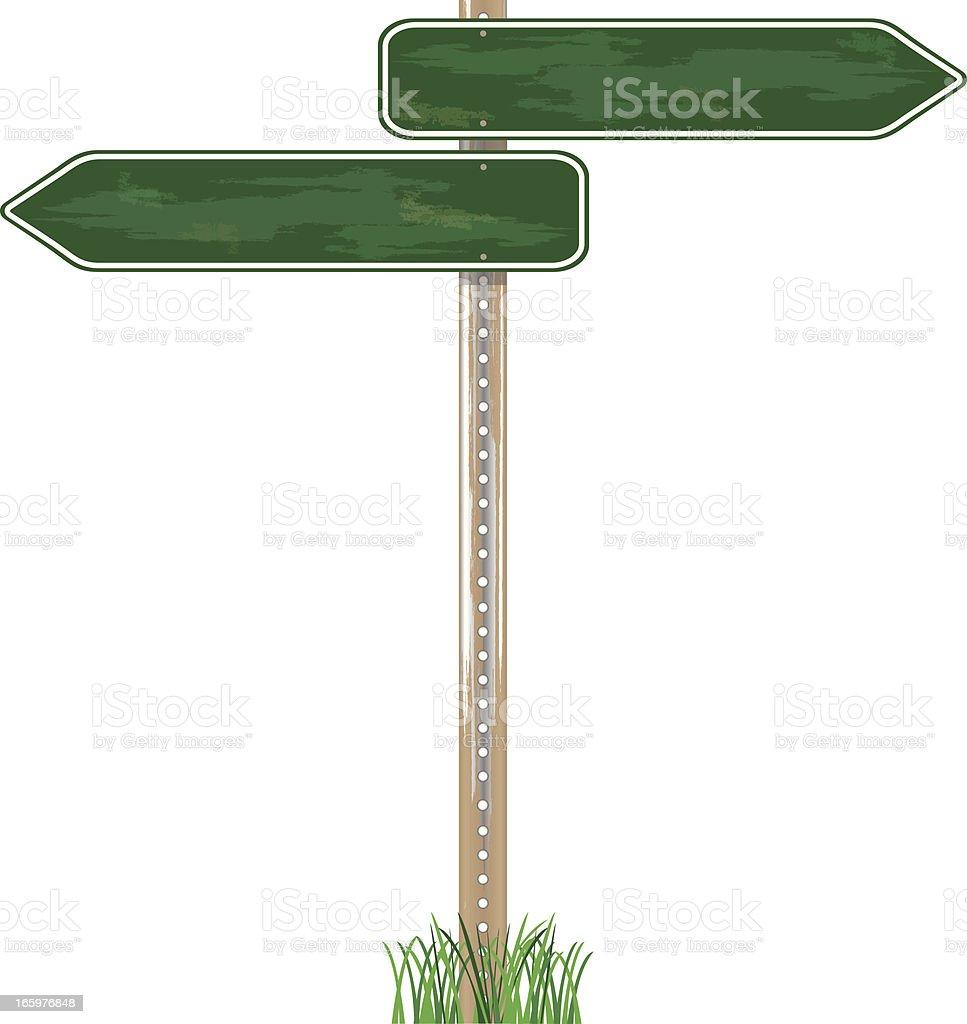 Direction Sign Grunge Texture vector art illustration